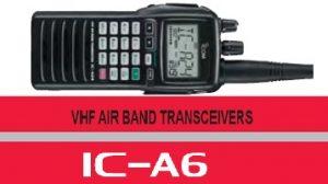 icom aeronautical model ic-a6